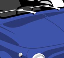 Classic Fiat 500L blue Sticker