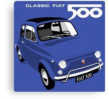 Classic Fiat 500L blue Canvas Print