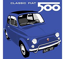 Classic Fiat 500L blue Photographic Print
