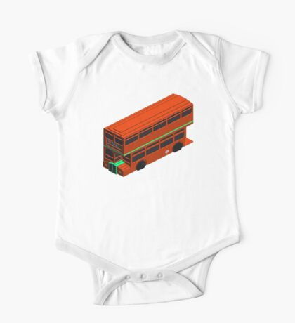 Double Deckers Buses London One Piece - Short Sleeve