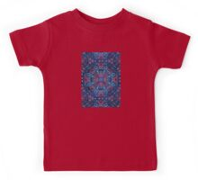 Cherry Red & Navy Blue Watercolor Floral Pattern Kids Tee