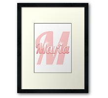 Baby Maria is a Superstar Framed Print