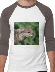 Asian Short-Clawed Otter Men's Baseball ¾ T-Shirt