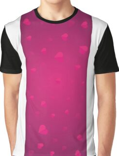 Valentines Day. Background with hearts Graphic T-Shirt