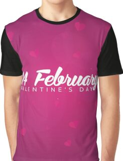 Valentines Day. Background with hearts. Graphic T-Shirt