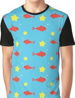 Fish and stars Graphic T-Shirt