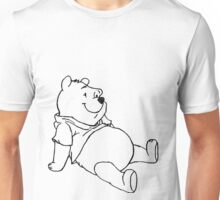 Winnie The Pooh Black and White Unisex T-Shirt