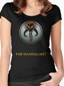 mandalorian Emblem Women's Fitted Scoop T-Shirt