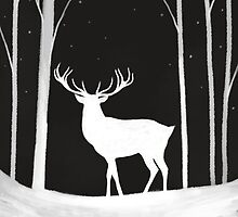 Winter Stag by LauraTolton