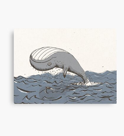 Whale of a Day Canvas Print