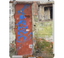 Old rusty WWII bunker door with graffiti iPad Case/Skin