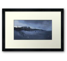 Crossing the wall. Framed Print