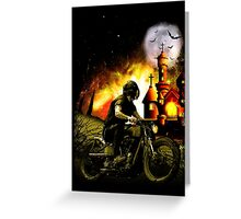 mystery rider Greeting Card