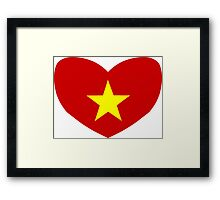 Heart Shaped Flag of Vietnam Framed Print