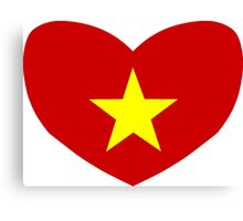 Heart Shaped Flag of Vietnam Canvas Print