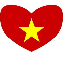 Heart Shaped Flag of Vietnam Photographic Print