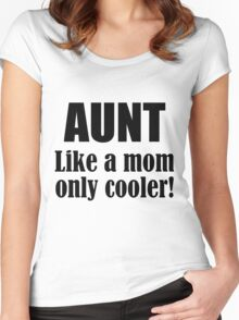 AUNT LIKE A MOM ONLY COOLER! Women's Fitted Scoop T-Shirt