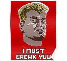 8-bit 80's - RockyIV Drago Poster