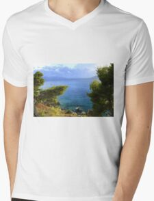 Seacoast Forest - Nature Photography Mens V-Neck T-Shirt