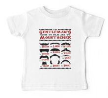The Gentleman's Guide To Film & TV Moustaches Baby Tee