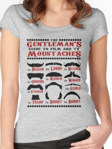 The Gentleman's Guide To Film & TV Moustaches Women's Fitted Scoop T-Shirt