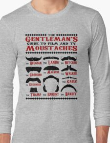 The Gentleman's Guide To Film & TV Moustaches Long Sleeve T-Shirt