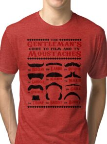The Gentleman's Guide To Film & TV Moustaches Tri-blend T-Shirt