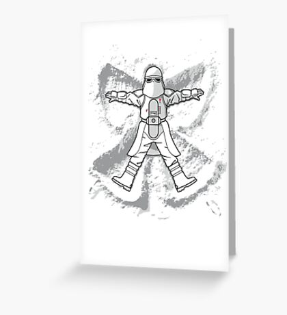 Imperial Snow Angel Greeting Card