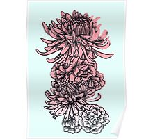 Chrysanthemums and Peonies Poster