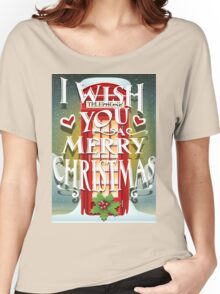 Christmas Card with English Cabin Women's Relaxed Fit T-Shirt