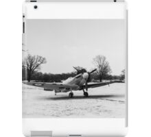 Spitfire in the snow black and white version iPad Case/Skin