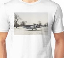 Spitfire in the snow Unisex T-Shirt