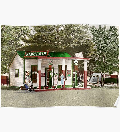 Eat Here Get Gas Poster