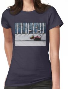 Snowy Walk Womens Fitted T-Shirt