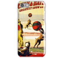 Barnum and Bailey Circus Football dogs iPhone Case/Skin