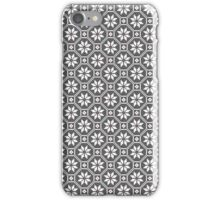 White fine isolated lace texture on black background iPhone Case/Skin