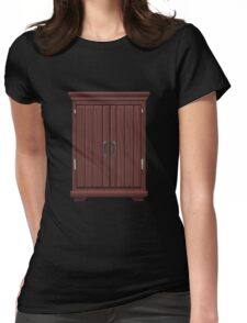 Glitch furniture largecabinet mahogany wood large cabinet Womens Fitted T-Shirt