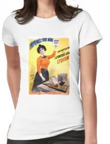 French Vintage Advertising Poster Restored Womens Fitted T-Shirt