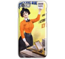 French Vintage Advertising Poster Restored iPhone Case/Skin