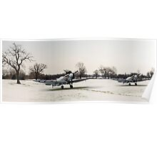 Spitfires in the snow Poster