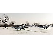 Spitfires in the snow Photographic Print