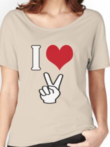 I Love Peace Women's Relaxed Fit T-Shirt
