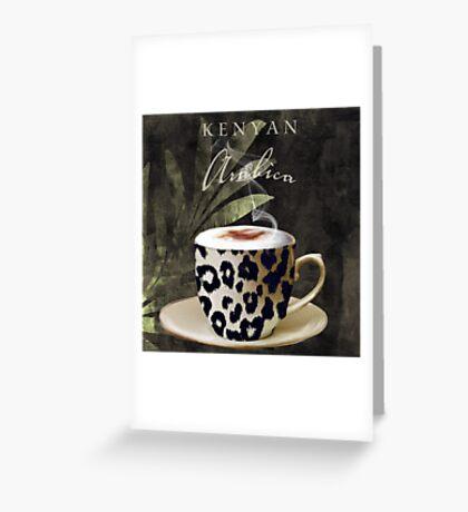 Afrikan Coffees III Greeting Card