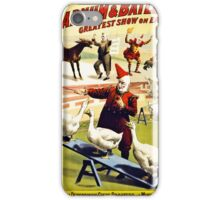 Barnum and Bailey  Circus Geese and musical donkey iPhone Case/Skin