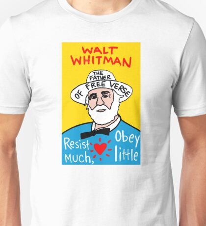 Walt Whitman pop folk art Unisex T-Shirt