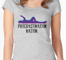 Procrastination Nation Women's Fitted Scoop T-Shirt