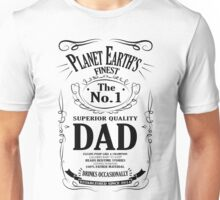 World's Finest Dad - White Unisex T-Shirt
