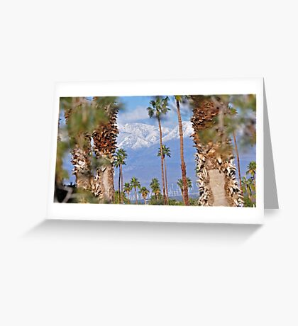 PALM SPRINGS MT. RANGE PLUS SOLAR WINDMILLS I -10 Greeting Card