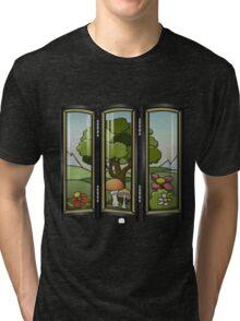 Glitch furniture largefrontfloordeco forest screen Tri-blend T-Shirt