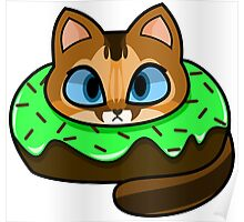 Abyssinian Donut Cat Poster